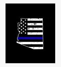 Arizona Thin Blue Line Police Photographic Print