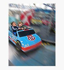 Little boys' thrill ride. Photographic Print