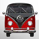 VW Kombi Bus red by thatstickerguy