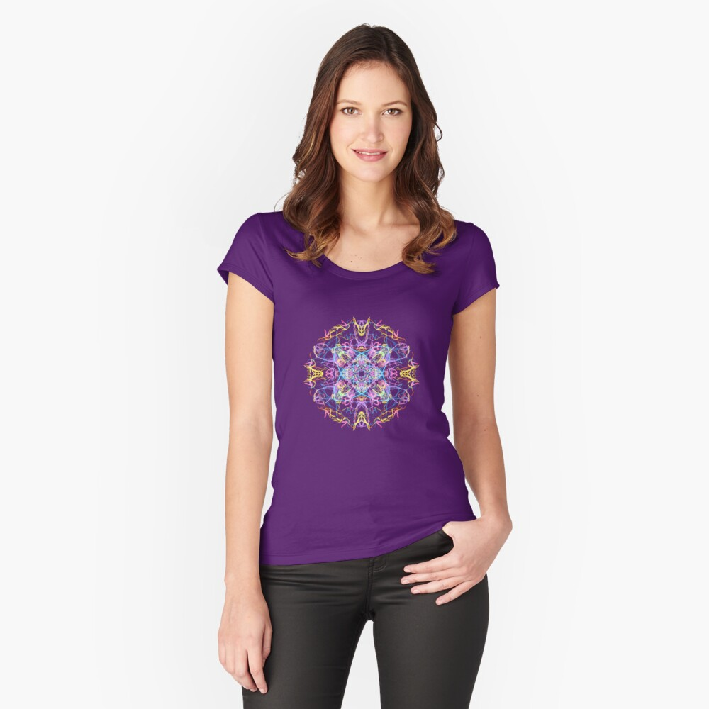 Floral Lights Fitted Scoop T-Shirt