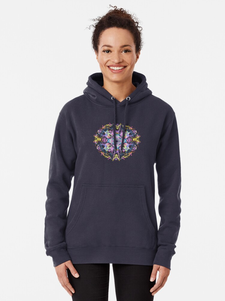 Alternate view of Floral Lights Pullover Hoodie