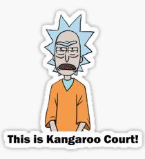 Rick and Morty-- Kangaroo Court Color Sticker