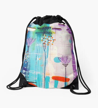 Summer In Bloom Drawstring Bag