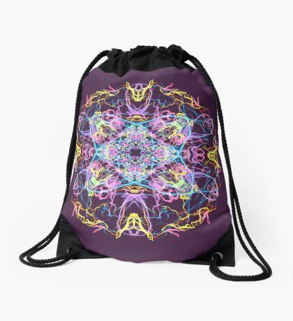Floral Lights Drawstring Bag