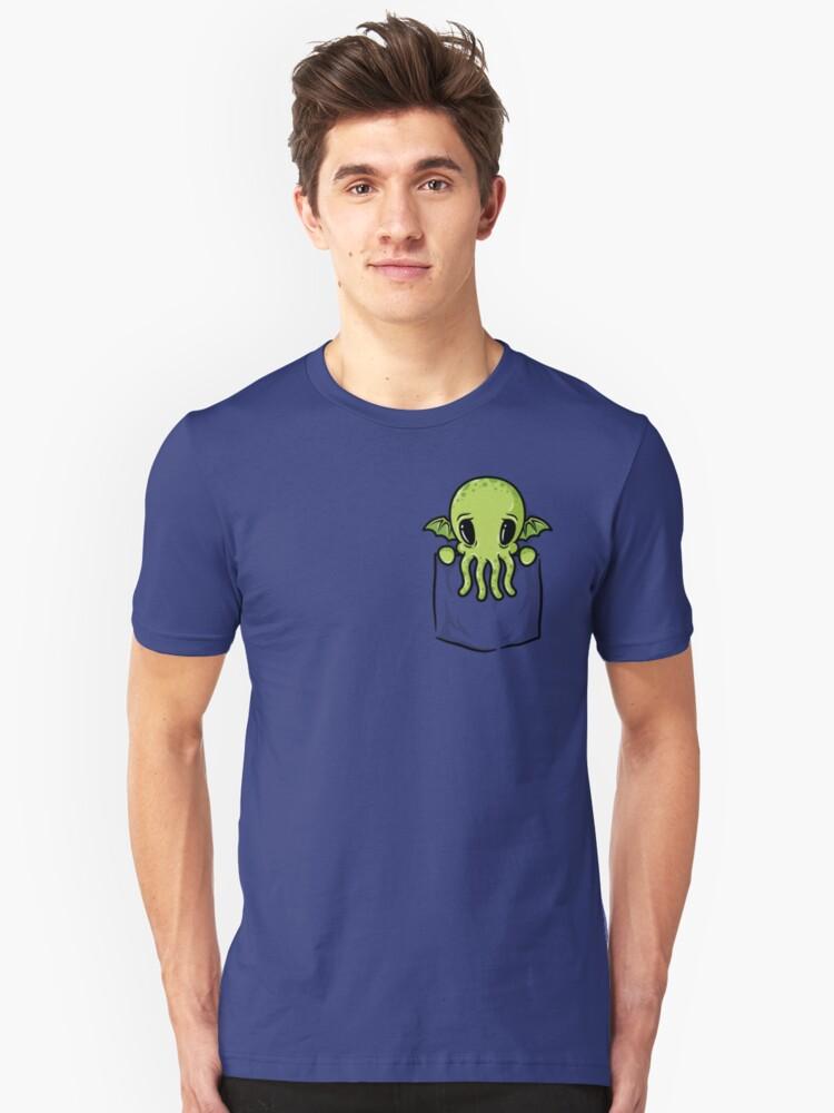 Pocket Cthulhu Unisex T-Shirt Front