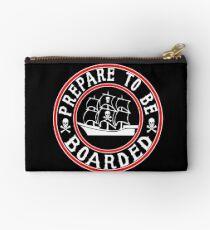 Prepare to be Boarded! Funny Pirate Ship Studio Pouch