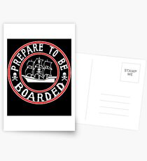 Prepare to be Boarded! Funny Pirate Ship Postcards