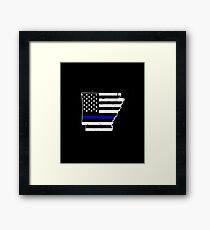 Arkansas Thin Blue Line Police Framed Print