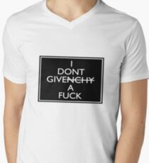 I Don't Give A Fuck (Givenchy) Mens V-Neck T-Shirt