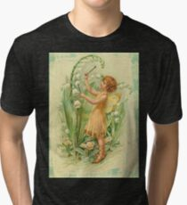 Fairy,flowers,angel,rustic,grunge,collage,wings,romantic Tri-blend T-Shirt