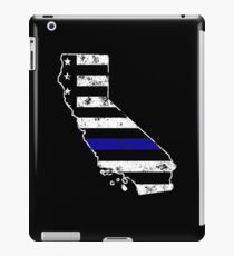 California Thin Blue Line Police iPad Case/Skin