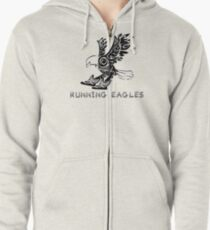 Running Eagles Zipped Hoodie