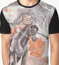 The Headless Horseman Watercolor Painting Graphic T-Shirt