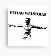 Gareth Bale - Flying Welshman Canvas Print