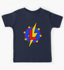 My Cute Little Super Hero - Letter L Kids Tee