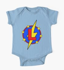 My Cute Little Super Hero - Letter L One Piece - Short Sleeve