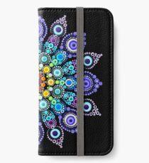 Regenbogen-Liebes-Mandala iPhone Flip-Case/Hülle/Klebefolie