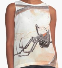 Black Widow Spider Watercolor Contrast Tank