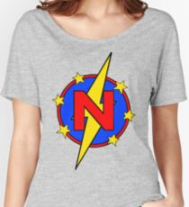 My Cute Little Super Hero - Letter N Women's Relaxed Fit T-Shirt