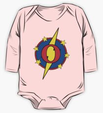 My Cute Little Super Hero - Letter O One Piece - Long Sleeve