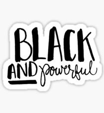 Black and Powerful Sticker