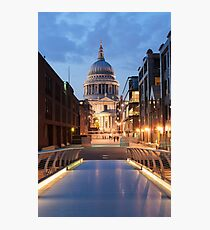 St Paul's and the Bridge Photographic Print