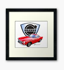 Volvo p1800 vintage sports car Sweden Framed Print
