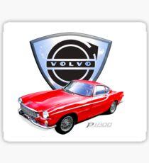 Volvo p1800 vintage sports car Sweden Sticker