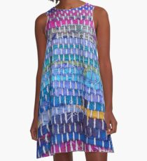 Hand-Woven Excellence A-Line Dress