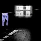 White Light on Blue Pants by Wayne King