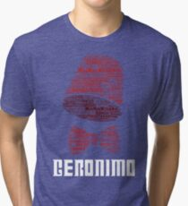 Geronimo - 11th Doctor's Quote - Doctor Who Tri-blend T-Shirt