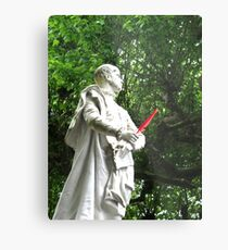 Red feather statue Metal Print