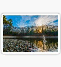 Skipping stones at Walden Pond. Sticker