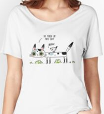 Annoyed Cat Women's Relaxed Fit T-Shirt