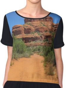 Path to Bell Rock, Arizona Women's Chiffon Top
