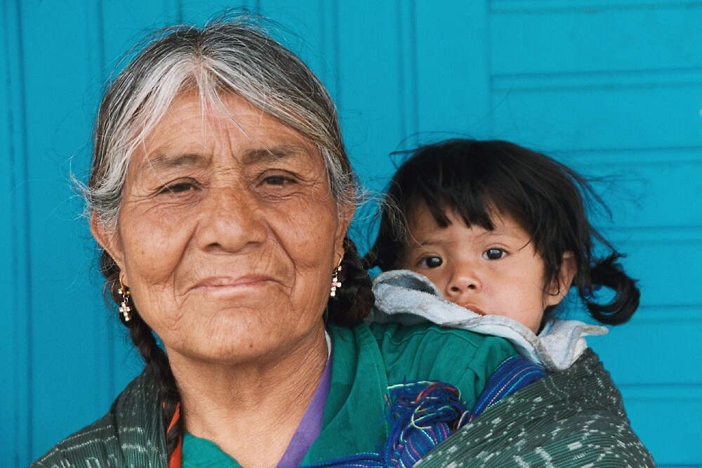 abuela, grandmother and granddaughter by David Chesluk