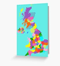 Politically United Kingdom Greeting Card