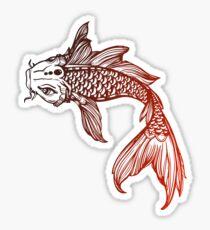 Red Coy Fish Sticker  Sticker