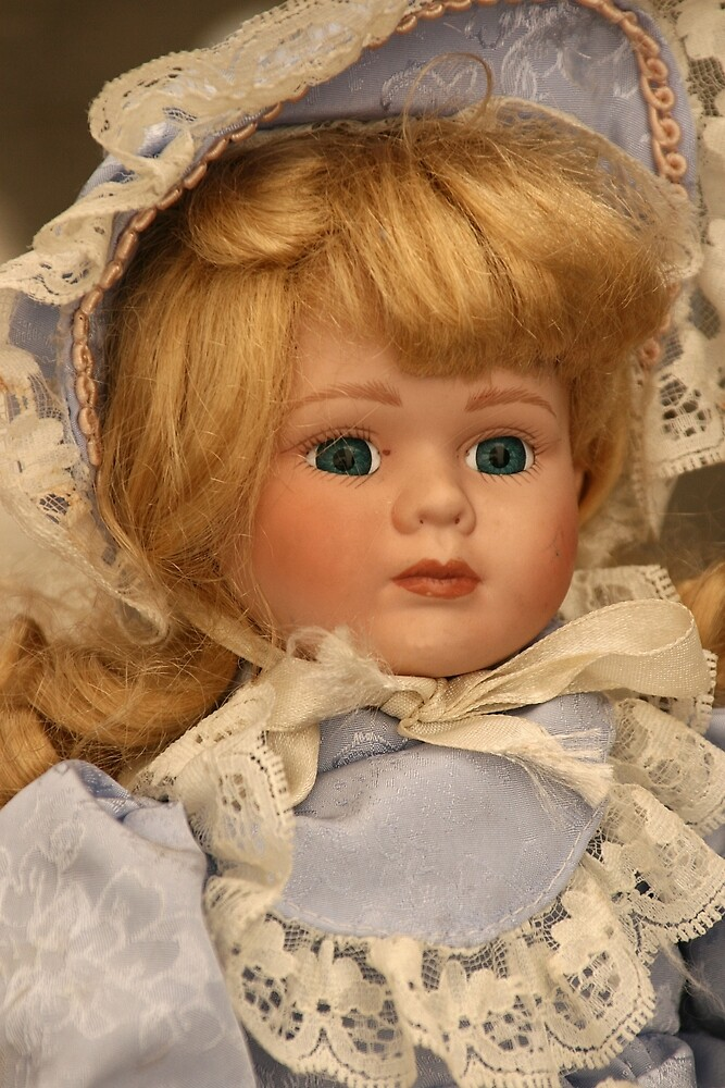 blond doll head by David Chesluk