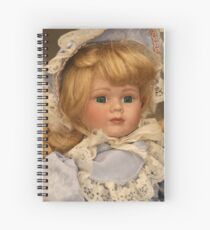 blond doll head Spiral Notebook