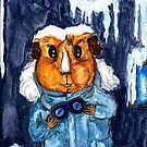 The Pig - Peregrine in a winter coat by Rachel Smith