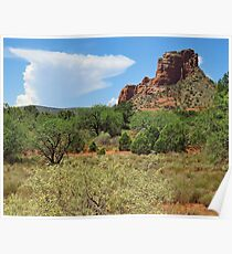 Clouds over Sedona Poster