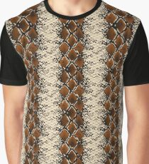Brown Diamonds Snake Skin Pattern Graphic T-Shirt