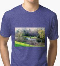 Meander in autumn in Deloraine Tri-blend T-Shirt