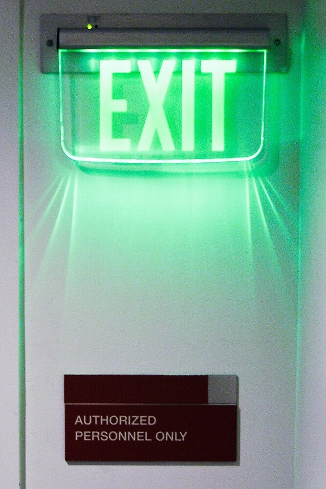 Exit sign by David Chesluk