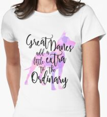 Extraordinary Great Dane Watercolor Women's Fitted T-Shirt