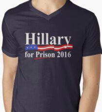 Hillary for Prison 4 Men's V-Neck T-Shirt