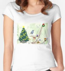 The Starling and Christmas in Africa Women's Fitted Scoop T-Shirt