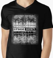 Stranger Things - Upside Down Design Men's V-Neck T-Shirt