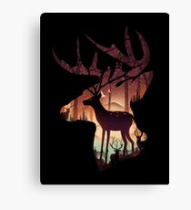 Mystical Deer Canvas Print